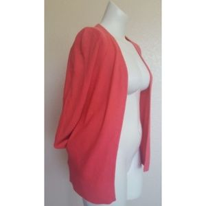 Ann Taylor Loft Open Front Cardigan Sweater XS Pink New